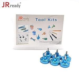 JRready ST5118 Positioner Kit: K40+K41+K42+K43+K13-1+K330-3 positioner kit K series positioners used for locating terminals for YJQ-W1A crimper (Color: Blue)