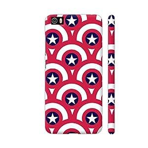 Colorpur Captain America Shield Pattern 2 Artwork On Xiaomi Mi 5 Cover (Designer Mobile Back Case)   Artist: Designer Chennai