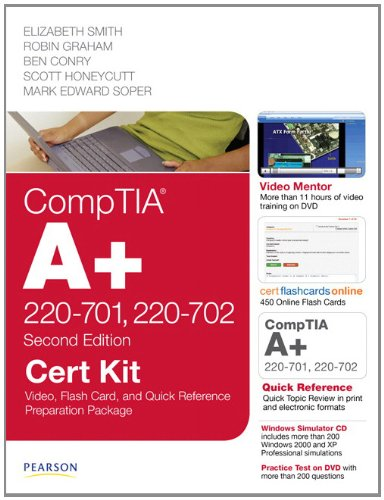 CompTIA A+ 220-701, 220-702 Cert Kit: Video, Flash Card, and Quick Reference Preparation Package [With DVD ROM]