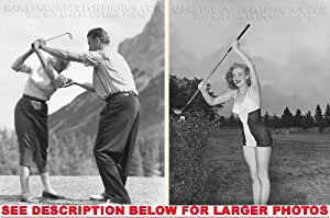 MARILYN MONROE LEARNING TO GOLF (2) RARE 8x10 FINE ART PHOTOS