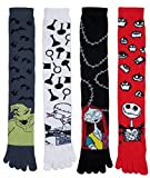 Nightmare Before Christmas Knee High Toe Socks 2 Pairs Mix and Match