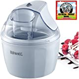 Duronic IM525 Ice Cream Machine, Sorbet and Frozen Yoghurt Maker + Free 128 pages best selling recipe book: Ben and Jerry's Homemade Ice Cream and Dessert Book