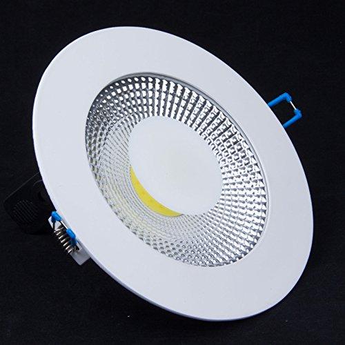 Lemonbest Energy Saving Led Light 15 Watts Round Recessed Led Panel Light Glass Scrub Cob Led Ceiling Light Fixture Downlight Lamp With Led Driver 6000-6500K, Cool White