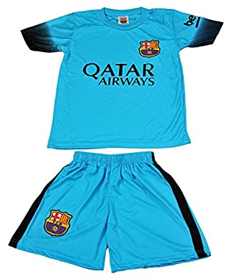 2015/2016 Barcelona Turquoise Blue Neymar Jr #11 Kids Soccer Jersey & Short