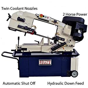 Bolton Tools BS-912B Horizontal Bandsaw With Twin Coolant Nozzles 9 ...