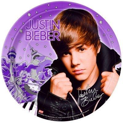 "Justin Bieber 9"" Plates"