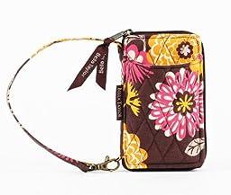 Bella Taylor Cocoa Le Fleur Wristlet Women Clutch Zippered Wallet (Brown/Orange)