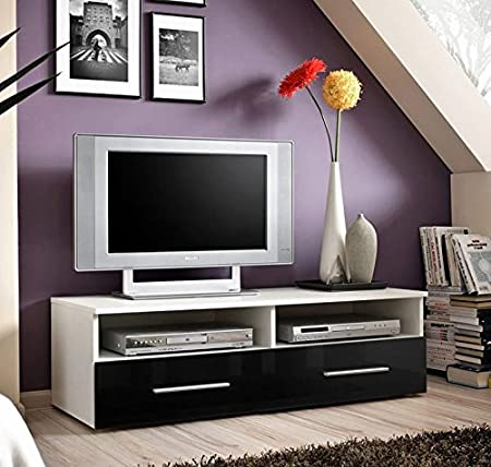 Muebles Bonitos - Mueble TV modelo Terento en color negro