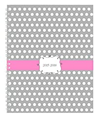 House of Doolittle 2015 - 2016 Academic Year Planner, Weekly And Monthly, Dots Cover, 7 x 9 Inches (HOD29593-16)