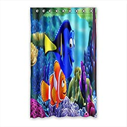 Custom Finding Nemo Pattern Polyester Bedroom Window Curtain 52\
