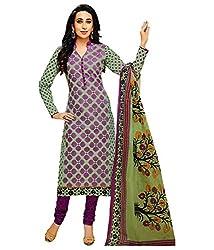 Shree Ganesh Multi Cotton Printed Unstitched Churiddar Suit with Dupatta