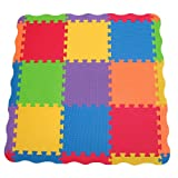 Edushape Edu-Tiles 25 Piece Solid Play Mat with Edges & Corners ~ Edushape