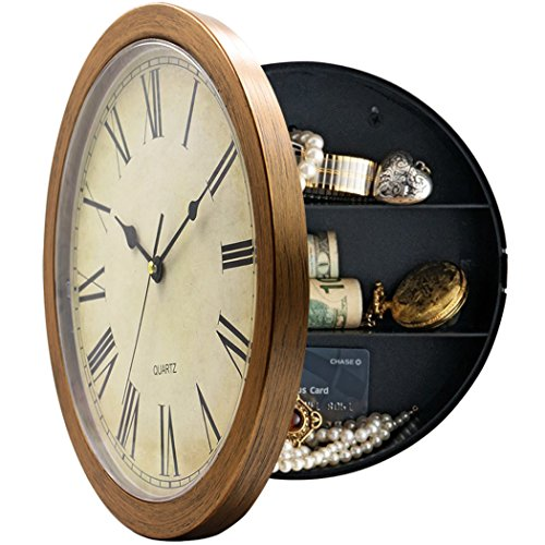 Wall Clock With Secret Compartment