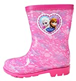 Disney Frozen Elsa Anna Girl's Snowflake Pink Rain Boots Shoes