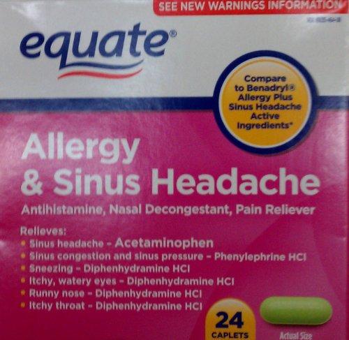 Equate allergies et des sinus Maux de tête 24