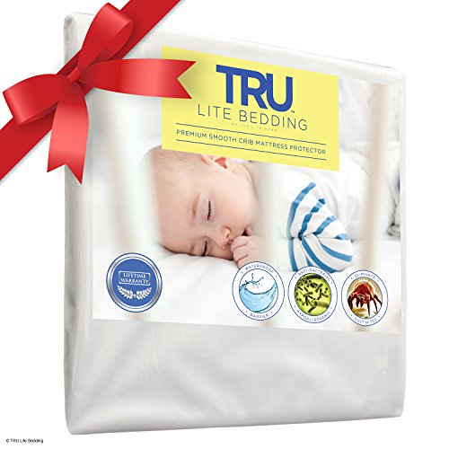 TRU Lite Bedding Mattress Protector, Premium Smooth Mattress Cover, 100 Percent Water-Proof, Hypoallergenic and Breathable, Crib (Crib Mattress Allergen Covers compare prices)