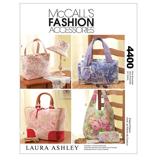 McCall's Patterns M4400 Handbags, Tote Bags, Hat and Accessories, One Size Only (Purse Sewing Patterns compare prices)