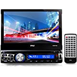 Pyle PLBT73G Bluetooth 7-Inch GPS Navigation Headunit Receiver, Built-In Mic, Hands-Free Call Answering, Touch Screen, CD/DVD