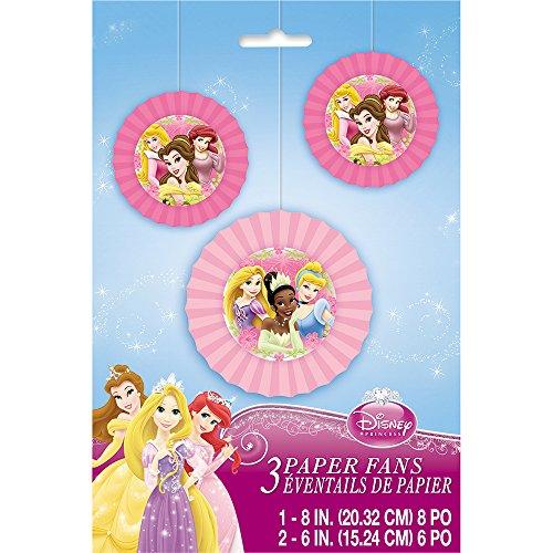 Unique Disney Princess Tissue Paper Fan (3 Count)