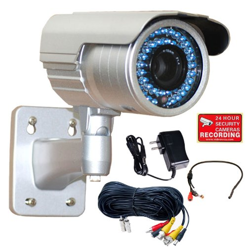 VideoSecu WDR Zoom Infrared OSD CCTV Outdoor Security Camera 1/3