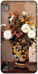 The Racoon Lean Chrysanthemum in vase - Pissarro hard plastic printed back case / cover for HTC Desire 816G