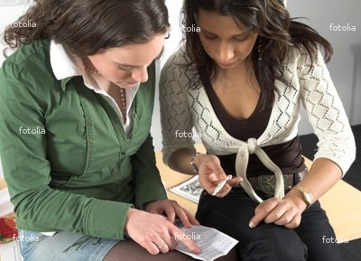 Wallmonkeys Peel and Stick Wall Graphic - Two Teenage Girls Checking Pregnancy Test - 24
