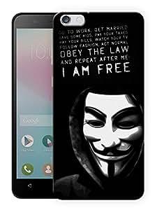 "Humor Gang V For Vendetta - I Am Free Printed Designer Mobile Back Cover For ""Huawei Honor 4X"" (3D, Matte, Premium Quality Snap On Case)"