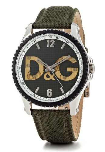 Damp;G Men's Sestriere Green Strap and Dial Dress Watch DW0705