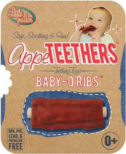 Teethers - BPA Free - Baby-Q Rib Appeteether