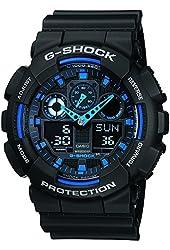 Casio G-Shock GA100-1A2 Ana-Digi Speed Indicator Black Dial Men's Watch