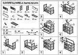 Kleintierstall MARBELLA mit 2 Etagen und Leiter weiss-braun -