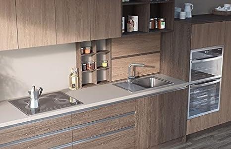 Egger Contemporary Grey Cashmere Effect Kitchen Bathroom Laminate Worktop Offcut Work Surface 40mm Breakfast Bar - 3m x 670mm x 38mm Breakfast Bar