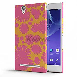 Koveru Back Cover Case for SONY XPERIA T2 Ultra - Red Twinkle Flowers