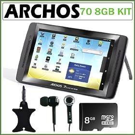 Archos 70 - 8 GB Internet Tablet (Black) + Accessory Kit