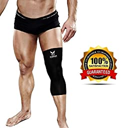 Copper Compression Gear PREMIUM Fit Recovery Knee Sleeve - 100% GUARANTEED - #1 Copper Knee Brace / Support Sleeve / Wrap / Stabilizer For Men And Women (Large)