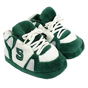 Buy Michigan State Spartans Comfy Feet Baby Infant Slippers by Comfy Feet