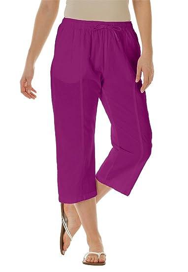 Knit capri pants plus size