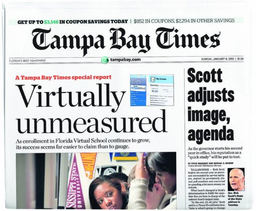 Tampa Bay Times, Mr. Media Interview, Kindle subscription