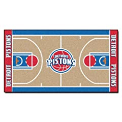 FANMATS NBA Detroit Pistons Nylon Face NBA Court Runner-Small by Fanmats