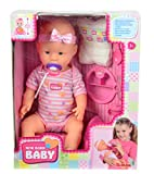 Simba-105039005-New-Born-Baby-Funktions-Baby-Puppe-trinktnt-inklusive-Zubehr-43-cm