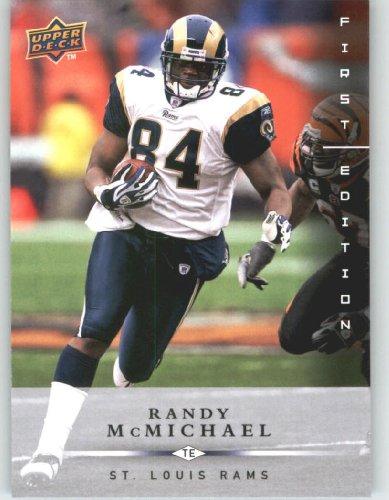 Randy McMichael St. Louis Rams 2008 Upper Deck First Edition Football Card # 135 NFL...