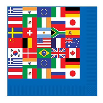 Beistle International Flag Luncheon Napkins (2-Ply) Party Accessory (1 Count) (16/Pkg)