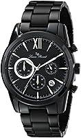Lucien Piccard Men's LP-12356-BB-11-SA Mulhacen Black Stainless Steel Watch