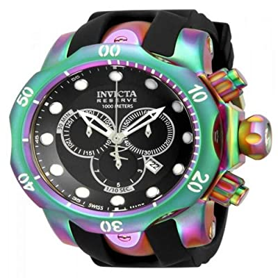 Invicta Men's 15984 Venom Analog Display Swiss Quartz Black Watch