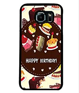 Fuson 2D Printed Birthday Designer back case cover for Samsung Galaxy S6 Edge - D4312