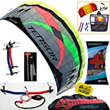 Prism Tensor 4.2 Power Foil Kite (Red) 3-Line Control Bar Traction Trainer Bundle:... by Prism, HQ, WindBone