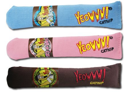 picture Cigar 3 Pack: Yeowww! 100% Organic Catnip Cigar Toys