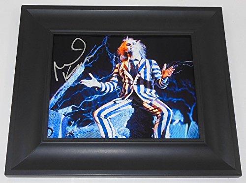 [Beetlejuice Michael Keaton Hand Signed Autographed 8x10 Photo Gallery Framed Loa] (Robocop Halloween Costume)
