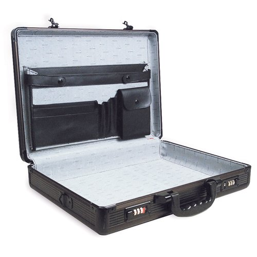 "RoadPro SPC-941G Black 17.5"" x 4"" x 13"" Aluminum Briefcase ..."