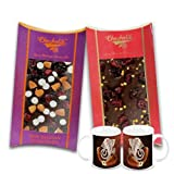 Chocholik Belgium Chocolate Gifts - Nutty And Fiery Combo Of Chocolate Bars With Diwali Special Coffee Mugs -...